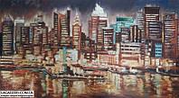«Вечерние огни Нью-Йорка» картина маслом
