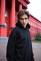 Худи оверсайз унисекс Taboo Kyiv базовый черный мужской