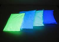 Люминофор белый полупрозрачный/ яркое зеленое свечение (пигмент,светящийся в темноте), 1 кг., фото 1