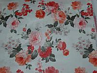 Ткань для штор  с оранжевой розой