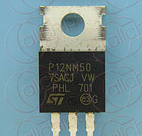 MOSFET N-канал 550В 12А 350мОм STM STP12NM50 TO220