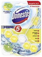 """Туалетный блок для унитаза Domestos Power 5 """"Свежесть лайма"""""""