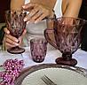 Набір кольорових рожевих келихів для вина Бордо 320 мл 6 шт, фото 3