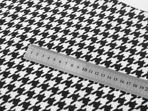 Платье футляр облегающее черное белое гусиная лапка длина миди, фото 2