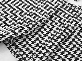 Платье футляр облегающее черное белое гусиная лапка длина миди, фото 3