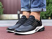 Модные мужские кроссовки черного цвета с белым с 41 по 46  размер, фото 2