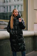 Женский длинный зимний пуховик одеяло