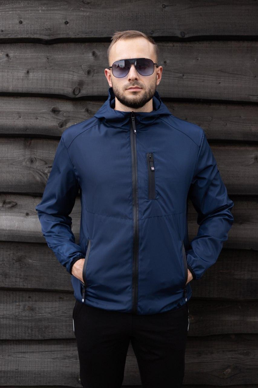Мужская куртка SOFT на молнии с капюшоном. Стильная мужская демисезонная курточка.