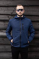 Мужская куртка SOFT на молнии с капюшоном. Стильная мужская демисезонная курточка. , фото 1
