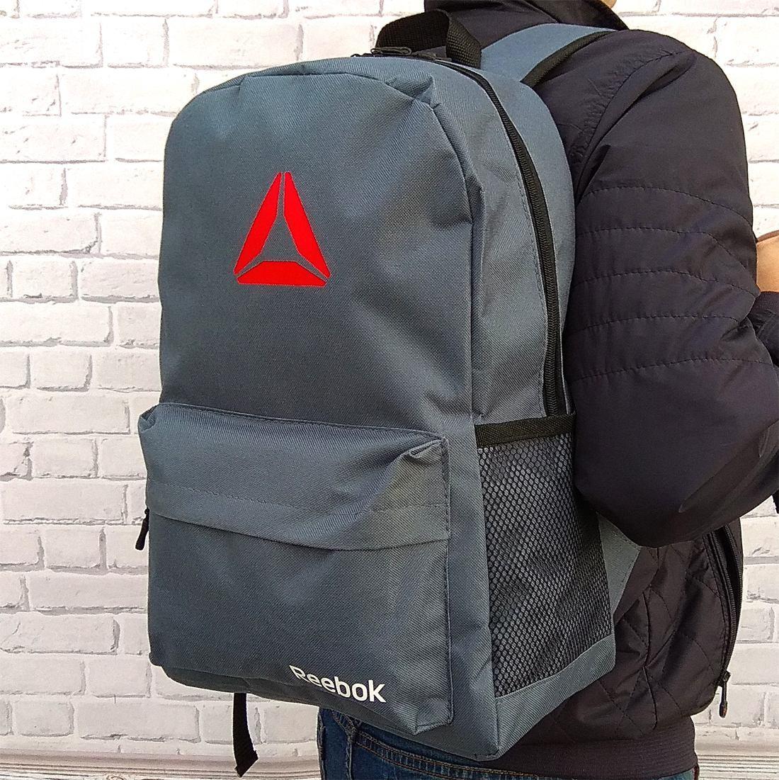 Рюкзак Reebok, рибок. Популярная модель. Серый / R3