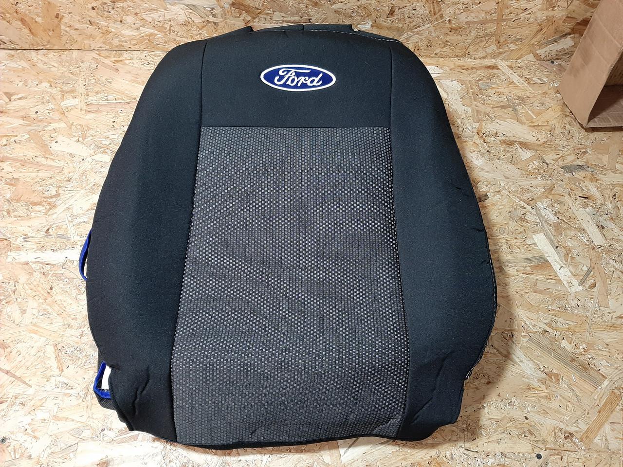 """Автомобильные чехлы на Ford Transit Custom (1+2) 2012- / авто чехлы Форд Транзит Кустом """"EMC Elegant"""""""