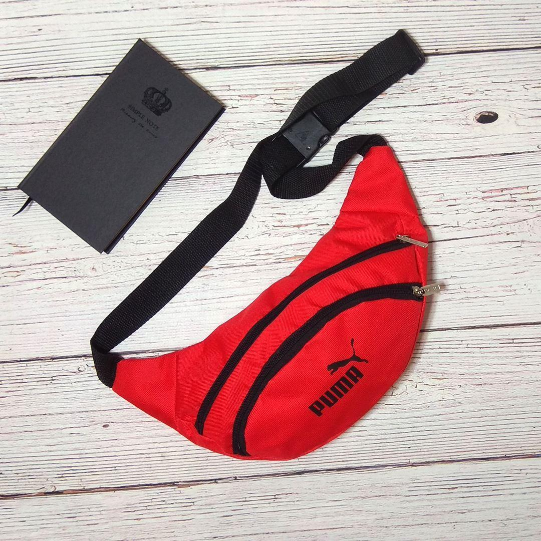 Поясная сумка, Бананка, барсетка пума, Puma. Красная
