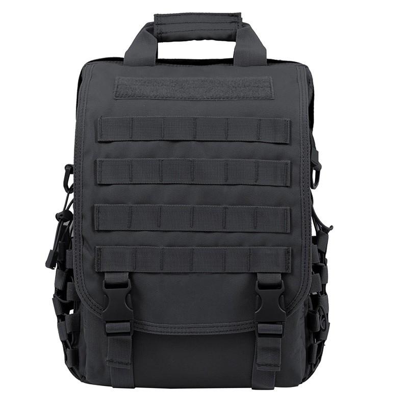 Тактическая сумка-рюкзак, мессенджер, портфель. Черный