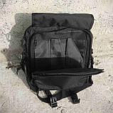 Тактическая сумка-рюкзак, мессенджер, портфель. Черный, фото 7