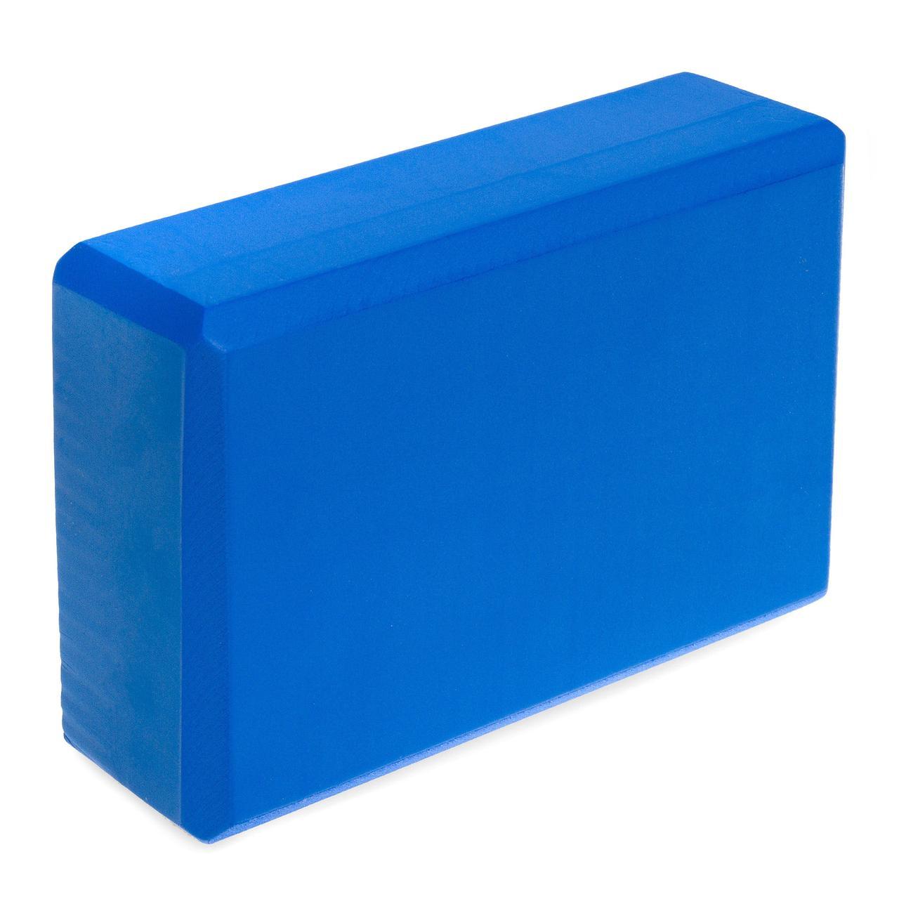 Йога-блок FI-1536 (EVA 100гр, р, 23 x 15 x 8см, синий)