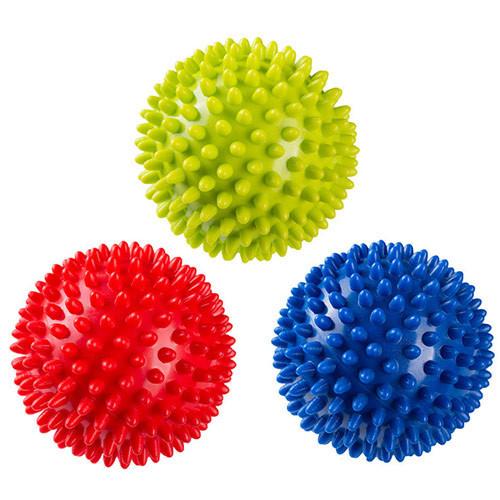 Мяч массажный, диаметр 9см. Красный, синий, салатовый