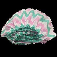 Детская простынь на резинке Солодкий Сон Бязь Зигзаг 80х160см. Мятный/розовый, фото 1