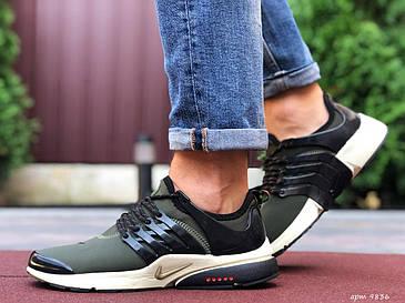 Качестенные мужские кроссовки тёмно-зелёного цвета с белым с 41 по 46  размер, фото 2