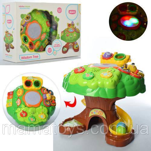 Развивающая игрушка для малышей QX-91150E музыкальный центр Дерево