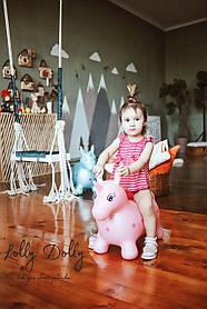 Прыгун Единорог MS 2251 перламутровый, розовый