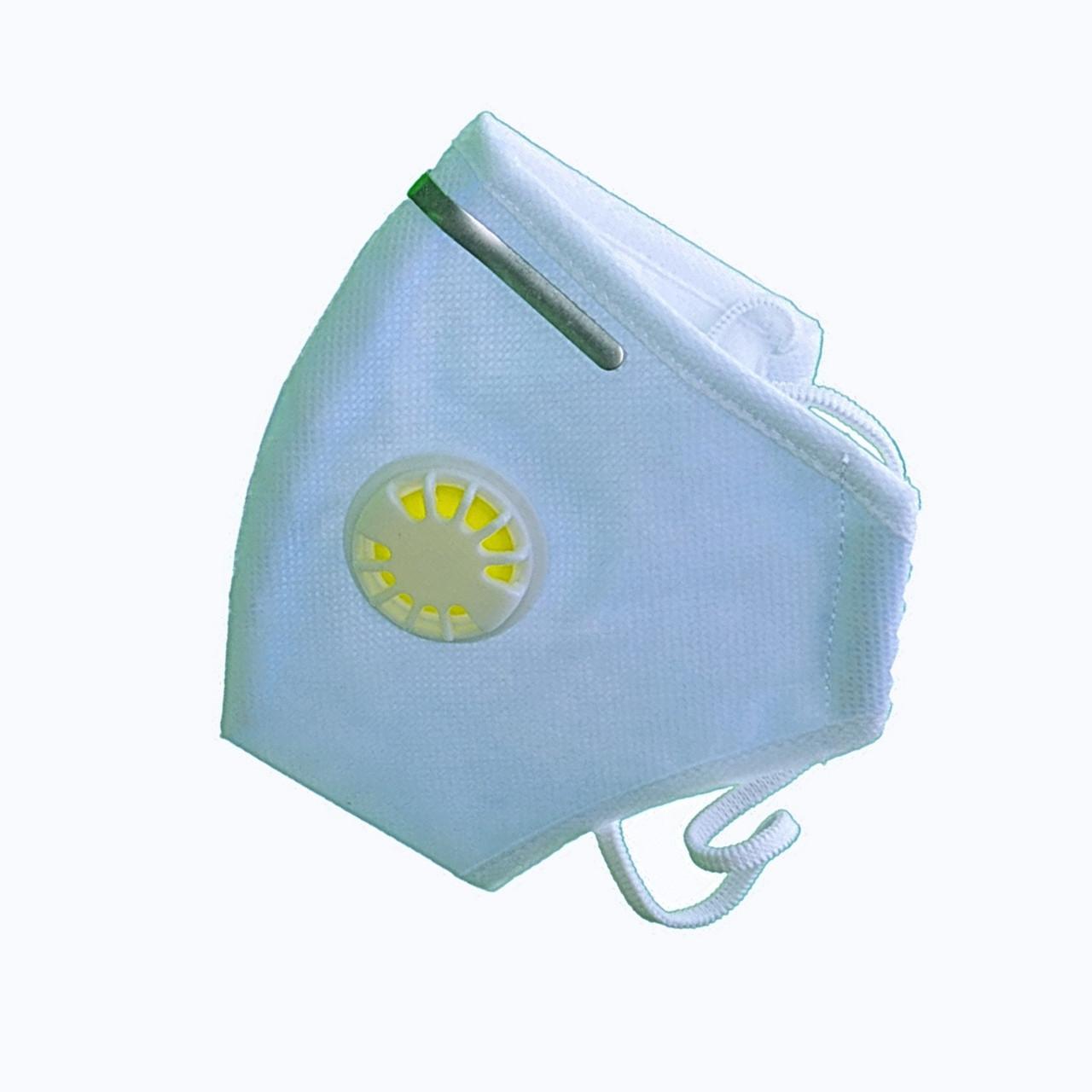 10 шт. Респиратор Славия ffp3 с клапаном и зажимом, голубой, 10 шт
