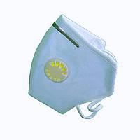 10 шт. Респиратор Славия ffp3 с клапаном и зажимом, голубой, 10 шт, фото 1