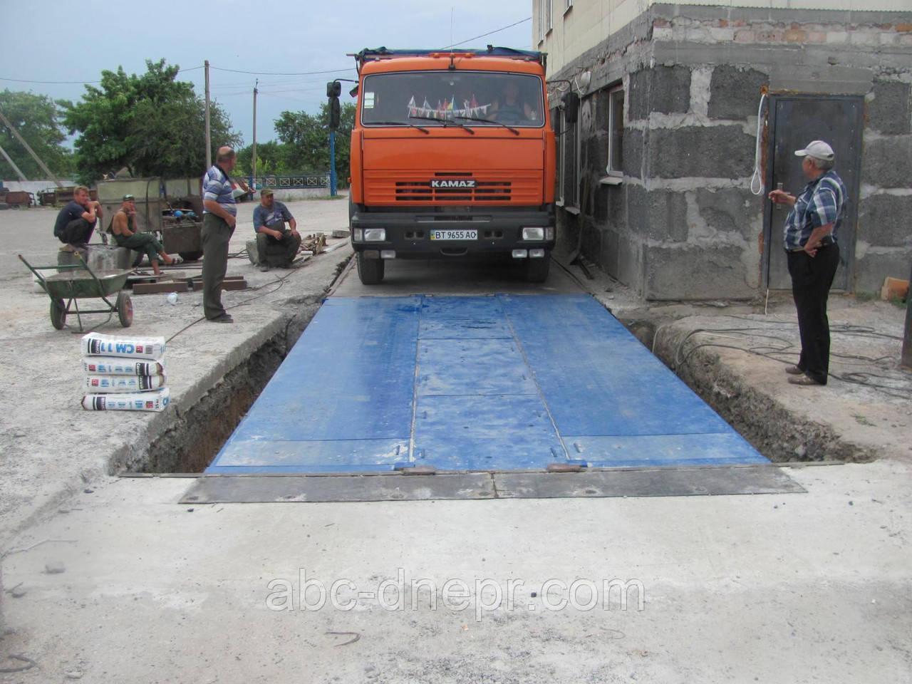 Модернизация автомобильных весов 18 метров 60 тонн с удлинением платформы