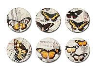 Набор фишек Арт-студия ПроСвет - Бабочки. Винтаж, матовые, 6 элементов