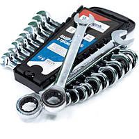 Набор ключей комбинированных с трещоткой 12 предметов, 8-19 мм. Profline 60229