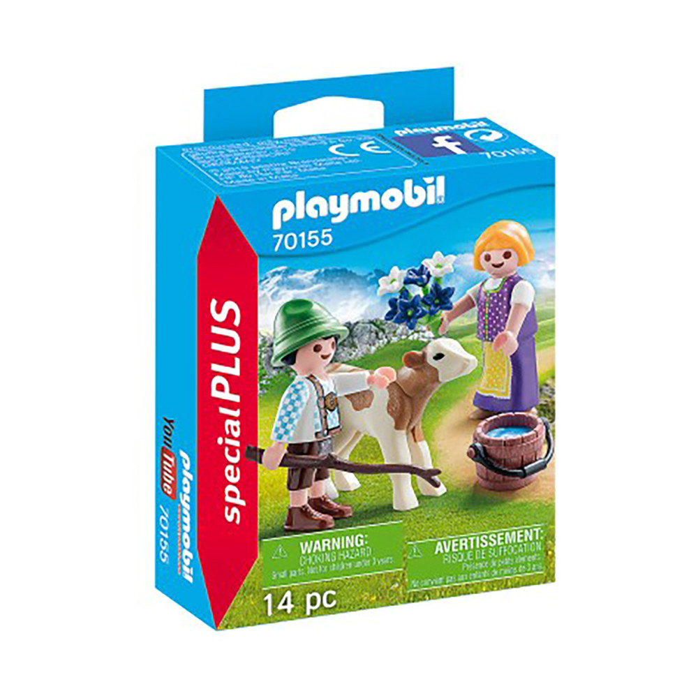 """Ігровий набір """"Діти з телям"""" Playmobil (4008789701558)"""