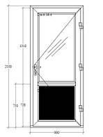 Входная дверь металопластиковая
