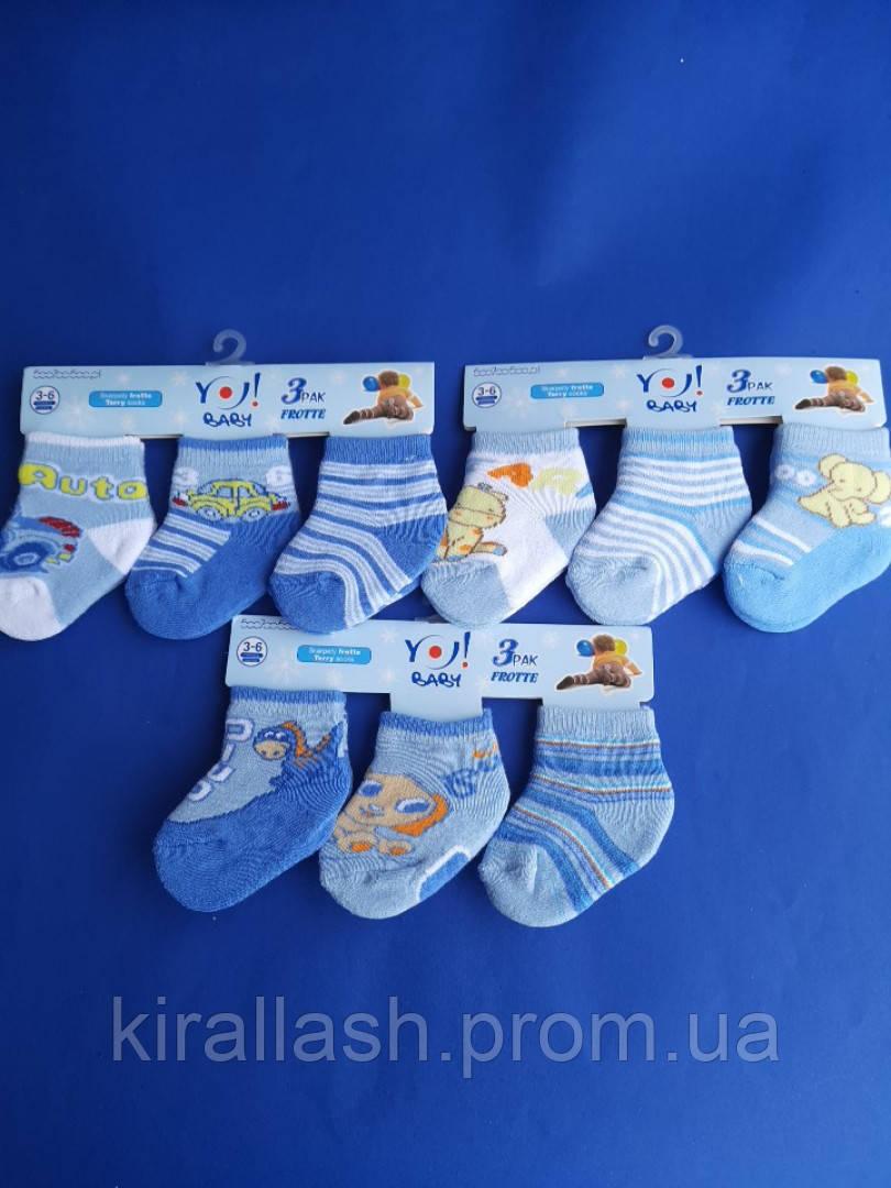 """Носки (3-6 месяцев) махровые для мальчиков """"YO SCORPIO""""  ПОЛЬША"""