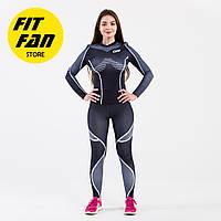 Женский спортивній костюм для фитнеса бега йоги Fit Fan Gray Lines