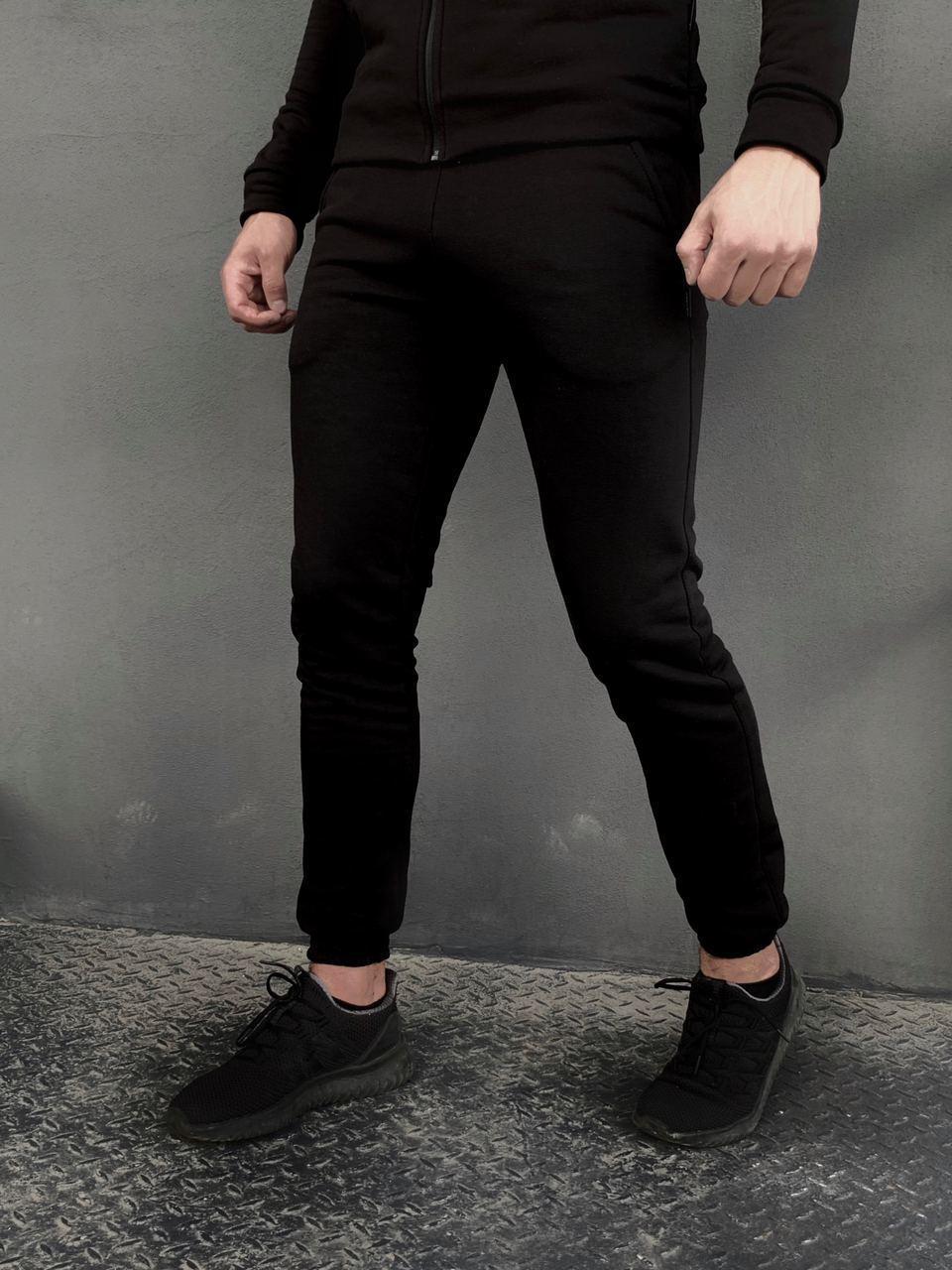 Спортивные мужские штаны 'Cosmo' Intruder брюки трикотажные черные размеры :S M L XL XXL