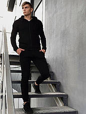 Спортивные мужские штаны 'Cosmo' Intruder брюки трикотажные черные размеры :S M L XL XXL, фото 2