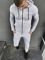 Костюм мужской спортивный Cosmo Intruder серый Кофта толстовка + штаны + Подарок