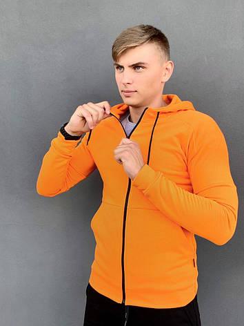 Кофта Мужская Intruder 'Cosmo' оранжевая спортивная толстовка с капюшоном, фото 2