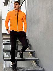 Кофта Мужская Intruder 'Cosmo' оранжевая спортивная толстовка с капюшоном, фото 3