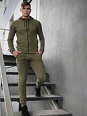 Кофта Чоловіча Intruder 'Космо' спортивна хакі толстовка з капюшоном + Подарунок, фото 3