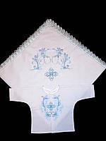 Комплект для крещения распашонка и крыжма , фото 1