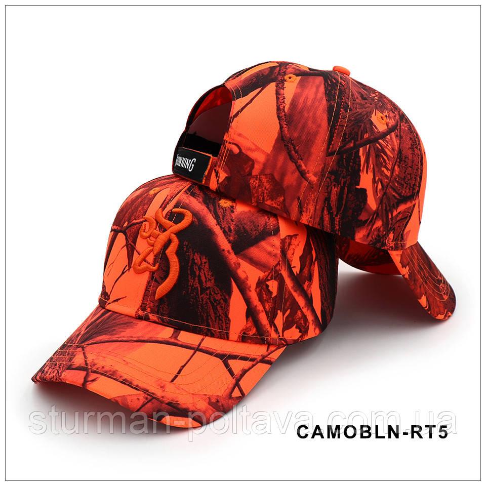 Бейсболка камуфляжная Browning -  камуфляж лесной оранжевая