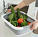 Складная силиконовая разделочная доска миска 2 в 1 для овощей и фруктов  Chopper (Реплика), фото 3
