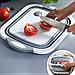 Складная силиконовая разделочная доска миска 2 в 1 для овощей и фруктов  Chopper (Реплика), фото 7