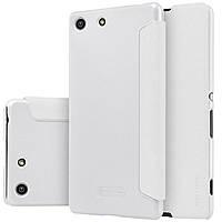 Шкіряний чохол Nillkin Sparkle для Sony Xperia M5 E5633 білий, фото 1
