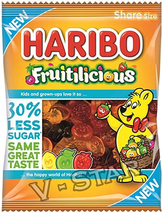 Haribo Fruitilicious 30% Less Sugar Share Bags 120g