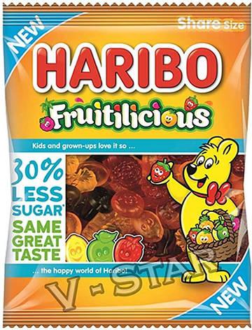 Haribo Fruitilicious 30% Less Sugar Share Bags 120g, фото 2