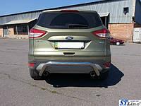 Защита переднего бампера одинарная Ford Kuga 2013-