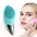 Щітка з вібрацією для вмивання | Масажер для очищення шкіри обличчя Sonic Facial Brush, фото 2