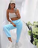 Женские трикотажные штаны джоггеры, цвета в ассортименте, Р-р.42-44,44-46,48-50 Код 478Ц, фото 6