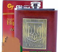 Фляга из нержавеющей стали обтянута кожей Украина TP-18